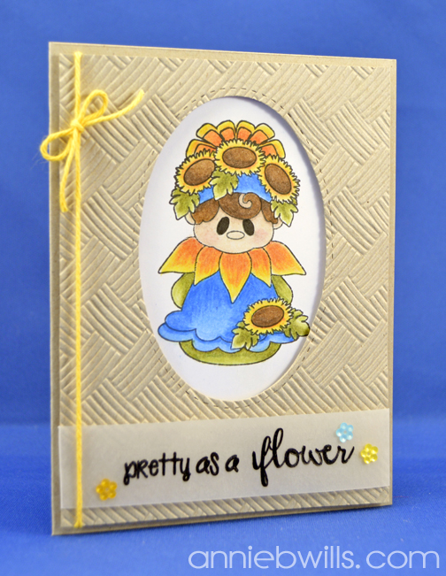 Pretty As A Flower Card by Annie Williams - Main