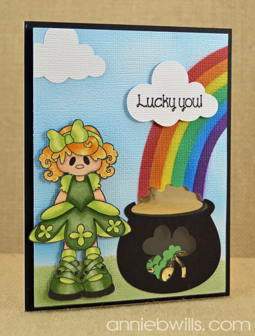 St Patricks Day Shaker Card by Annie Williams - Main