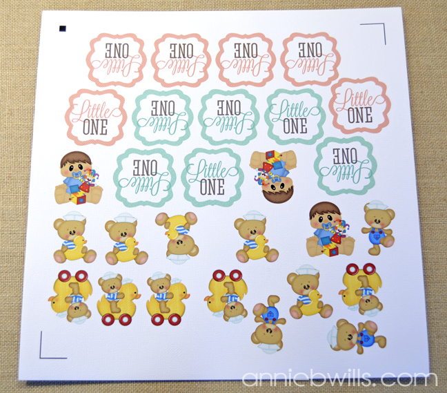 Baby Announcement Favors by Annie Williams - Printed Stickers
