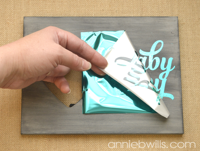 Foiled Picture Frame by Annie Williams - Peel Away Foil