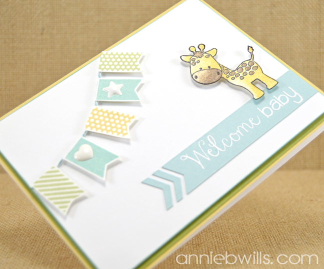 Welcome Baby Banner Card by Annie Williams - Detail 2