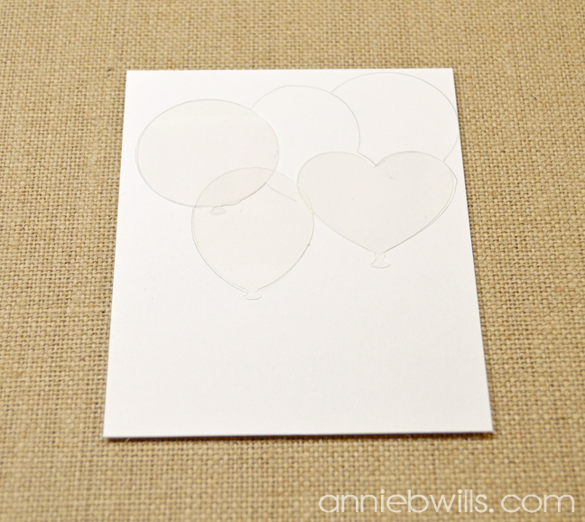 Stenciled Balloons Birthday Card by Annie Williams - Tracing Masks