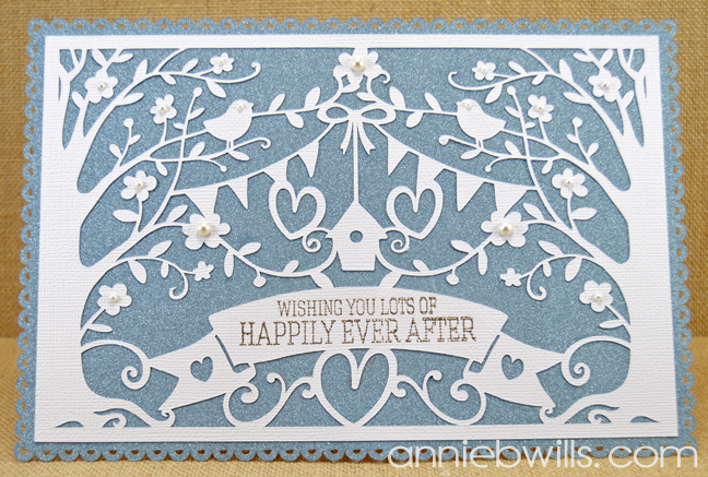 Intricate Overlay Wedding Card by Annie Williams - Full