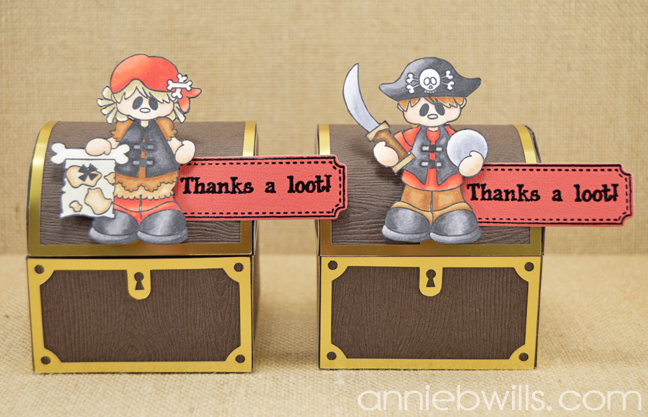 Treasure Chest Treat Boxes by Annie Williams - Both