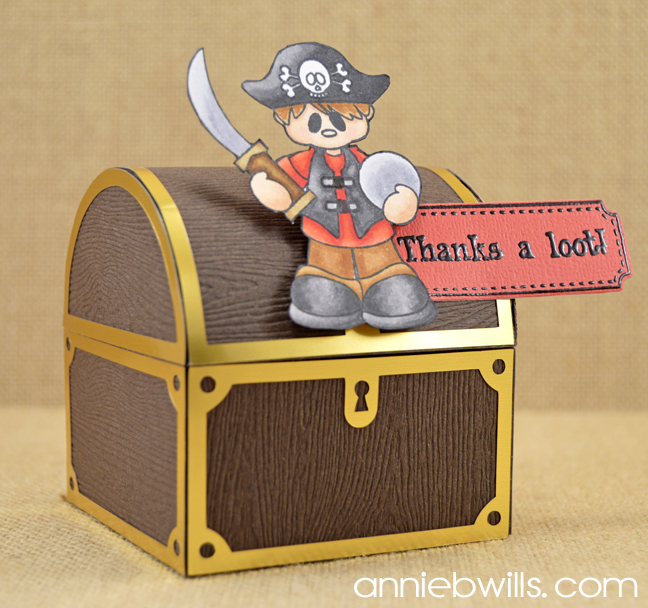Treasure Chest Treat Boxes by Annie Williams - Boy