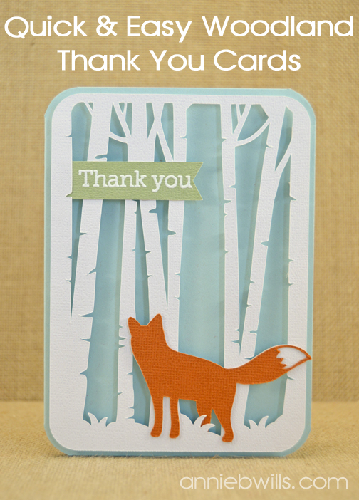 Woodland Thank You Cards by Annie Williams - Main