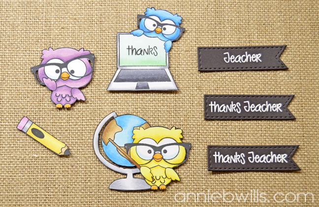 Teacher Thank You Gift Pockets by Annie Williams - Stamped Pieces