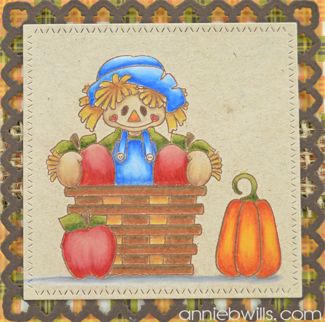Bushels of Blessings Card by Annie Williams - Coloring