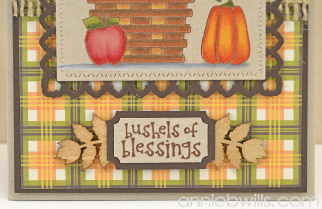 Bushels of Blessings Card by Annie Williams - Detail