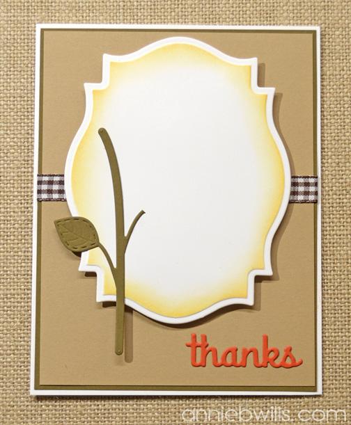 Autumn Thank You Card by Annie Williams - Adding Diecuts