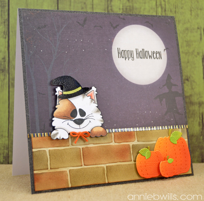 Peekaboo Kitty Halloween Card by Annie Williams - Main