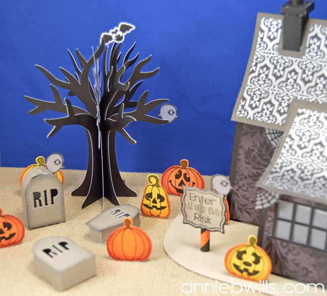 Spook-tacular Blog Hop Haunted House by Annie Williams - Cemetery Detail