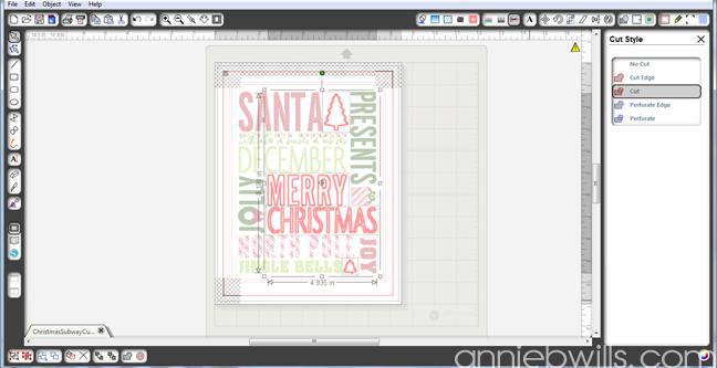 Christmas Subway Art by Annie Williams - Screenshot 3