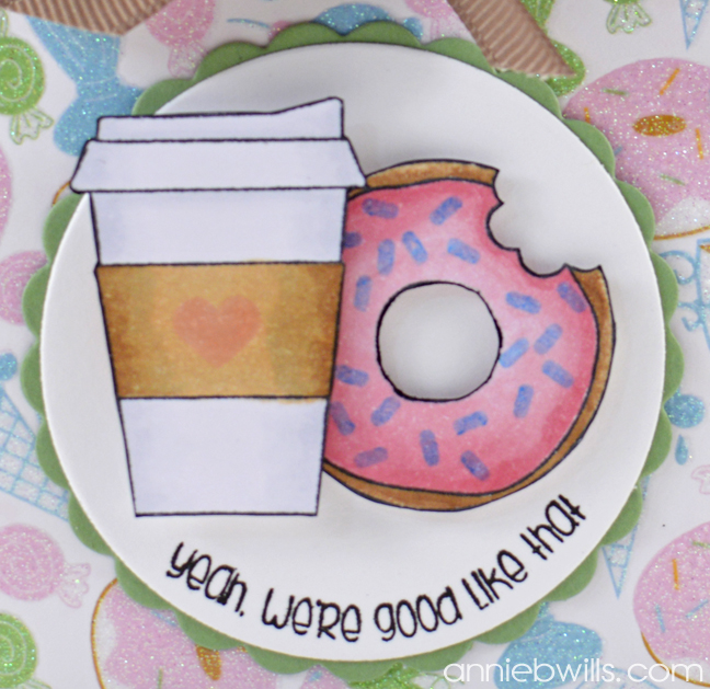 Coffee & Donuts Treat Box by Annie Williams - Detail
