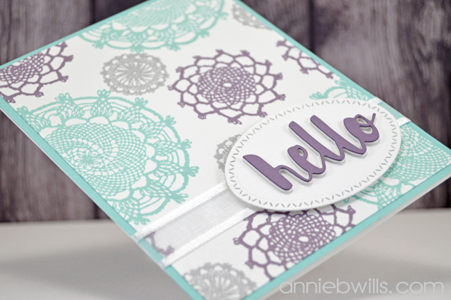 Lacey Hello Card by Annie Williams - Side Detail