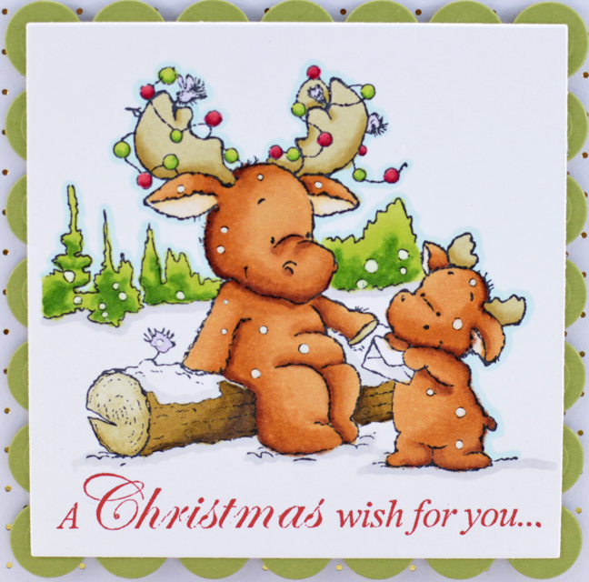 Christmas Wishes Card by Annie Williams - Detail
