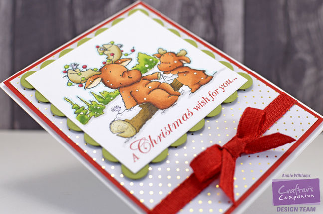 Christmas Wishes Card by Annie Williams - Side
