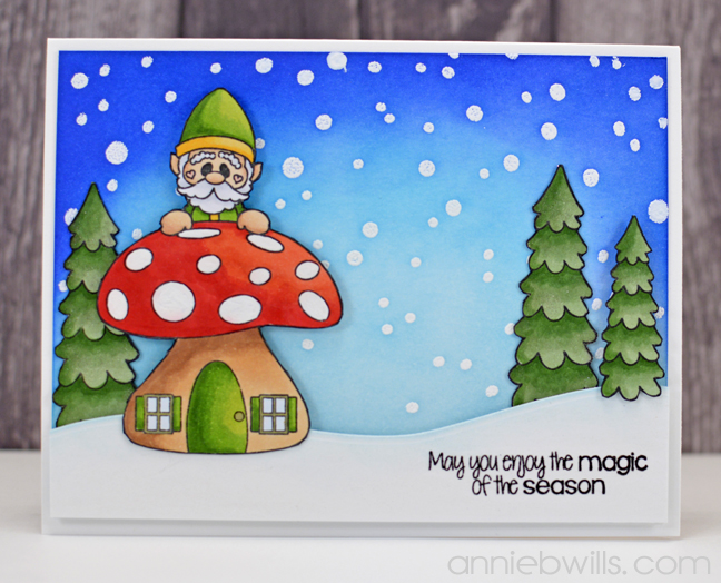 Gnome Christmas Card by Annie Williams - Full