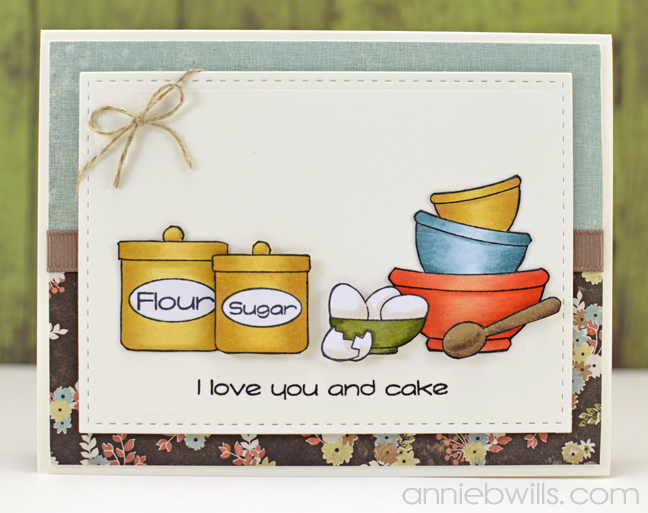 Love You & Cake Card by Annie Williams - Full
