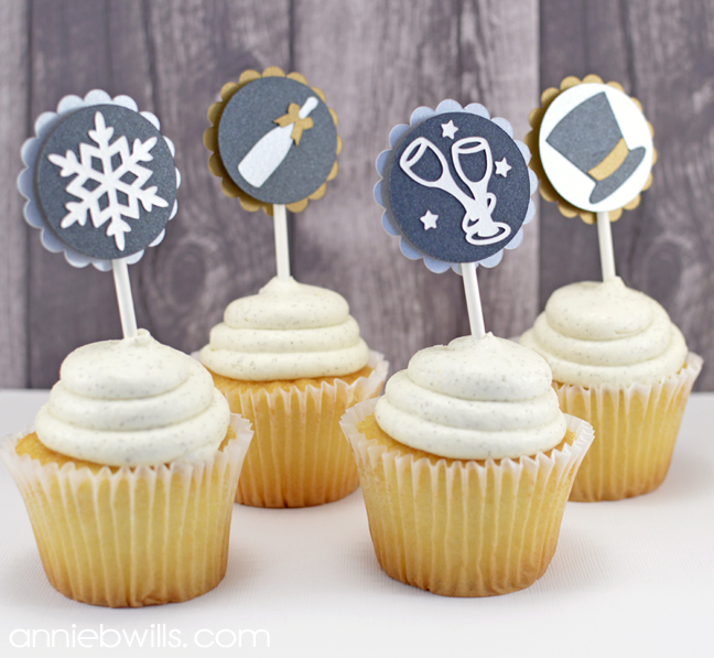 New Year's Eve Cupcake Toppers by Annie Williams - Main