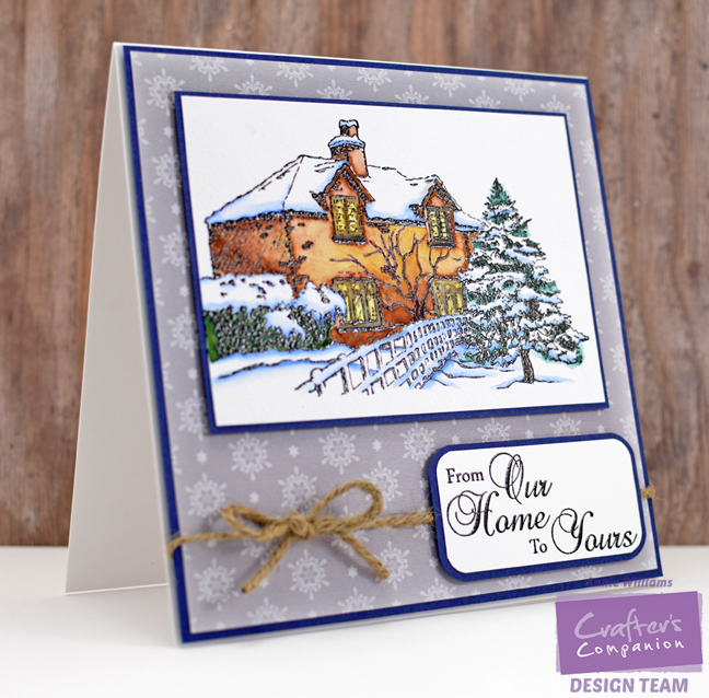 Watercolor Christmas House Card by Annie Williams - Main