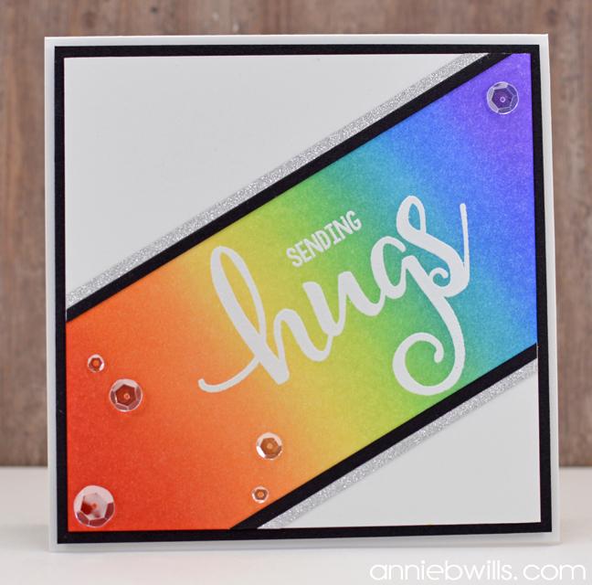 Sending Rainbow Hugs Card by Annie Williams - Full