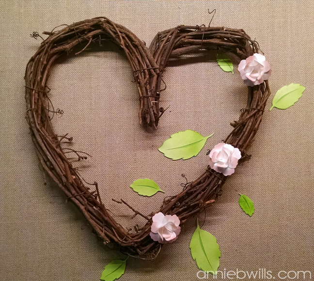 Springtime Heart Wreath by Annie Williams - Placement