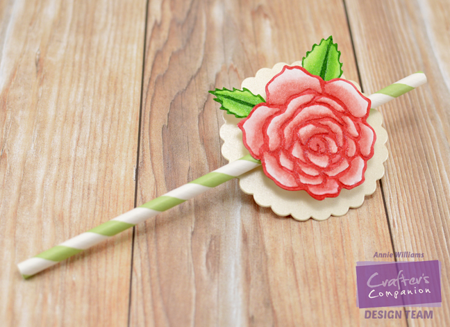 Springtime Rose Party Decor by Annie Williams - Straw Topper