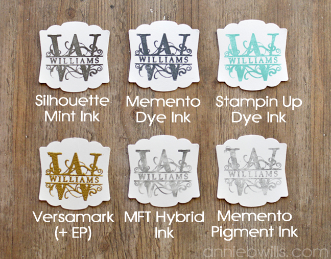 Using Other Inks with Your Silhouette Mint by Annie Williams - Ink Comparison