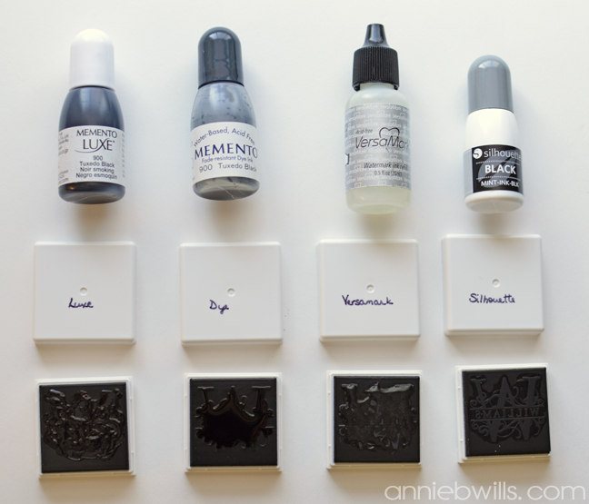 Using Other Inks with Your Silhouette Mint by Annie Williams - Inks 1