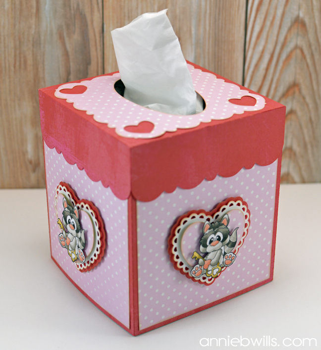 Valentine's Day Tissue Box Cover by Annie Williams - Main