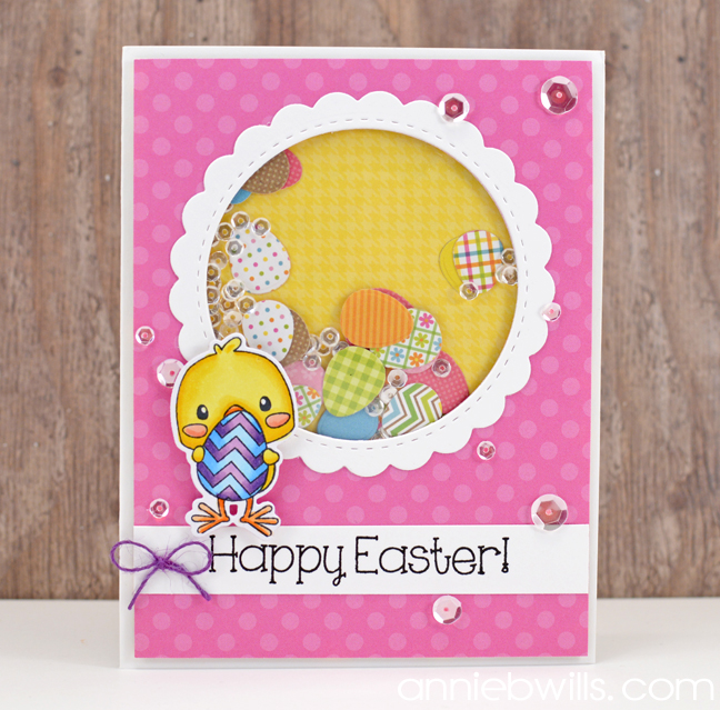 easter egg shaker card lab hands