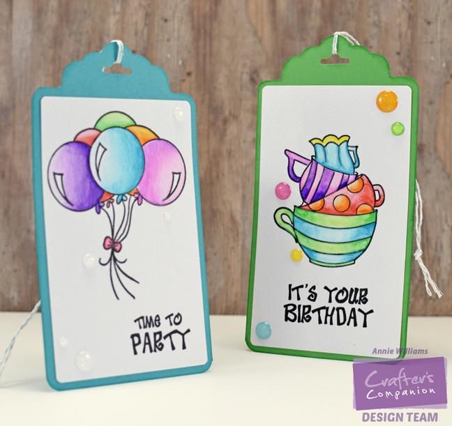 Spectrum Aqua Birthday Tags by Annie Williams - Final