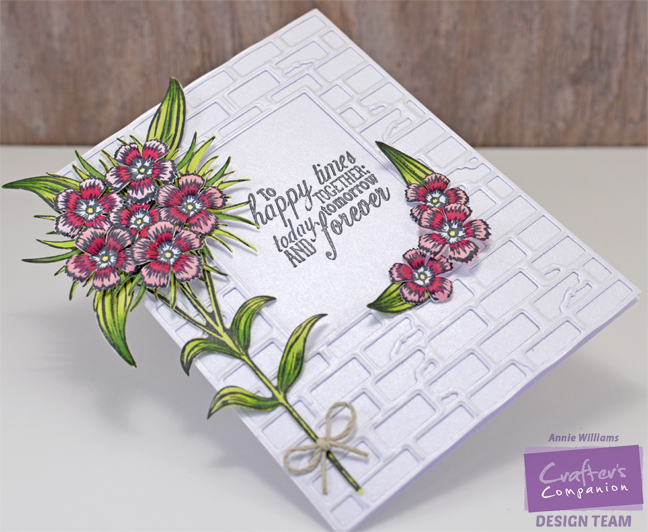 Sweet William Wedding Card by Annie Williams - Side