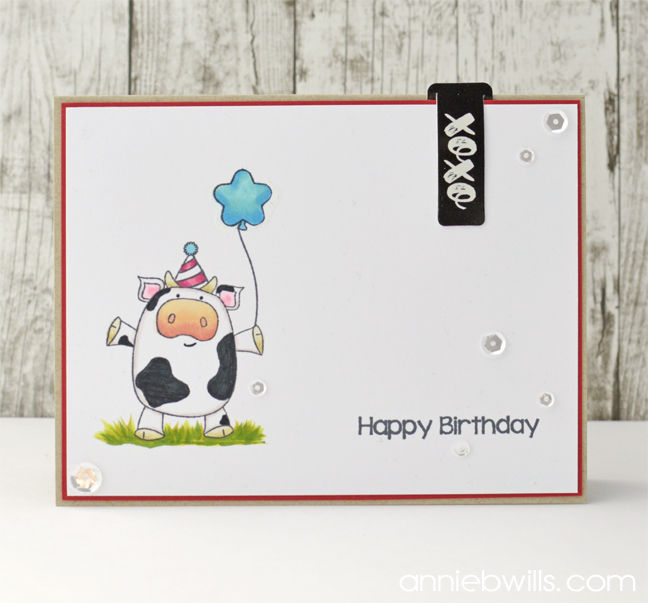 Birthday Cow Card by Annie Williams - Full