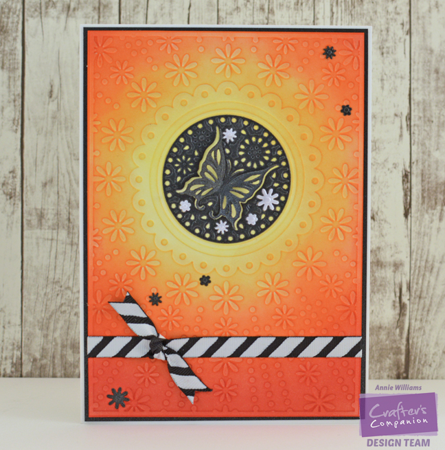 Butterfly Sunset Card by Annie Williams - Full