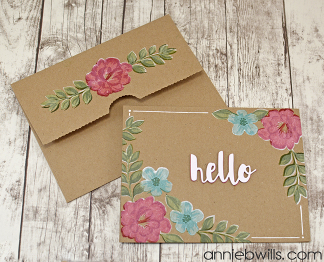 Painted Blooms Card by Annie Williams - Main