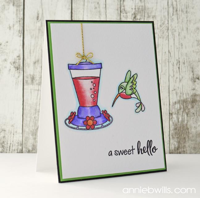 Sweet Hummingbird Card by Annie Williams - Main