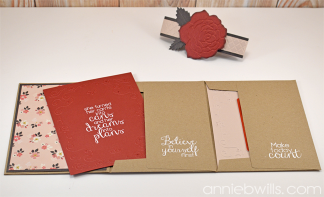 Accordion Envelope Card by Annie Williams - Open