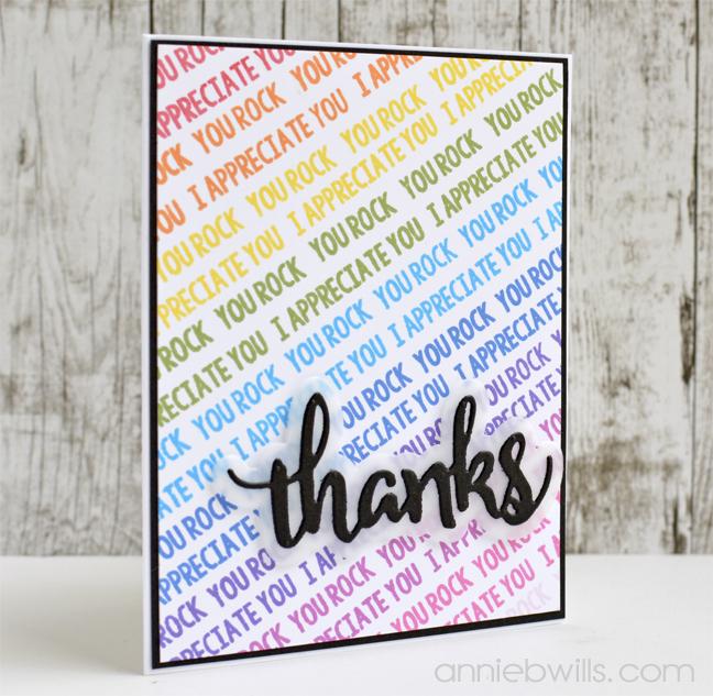 Rainbow Thanks Card by Annie Williams - Main