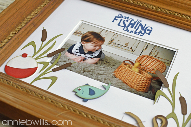 Fathers Day Double Photo Mat by Annie Williams - Detail