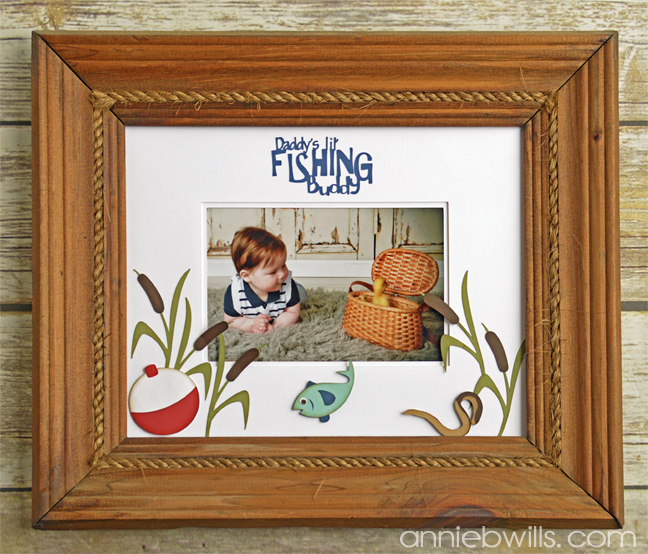 Fathers Day Double Photo Mat by Annie Williams - Main