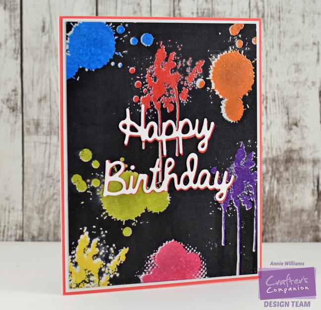 Happy Birthday Graffiti Card by Annie Williams - Main