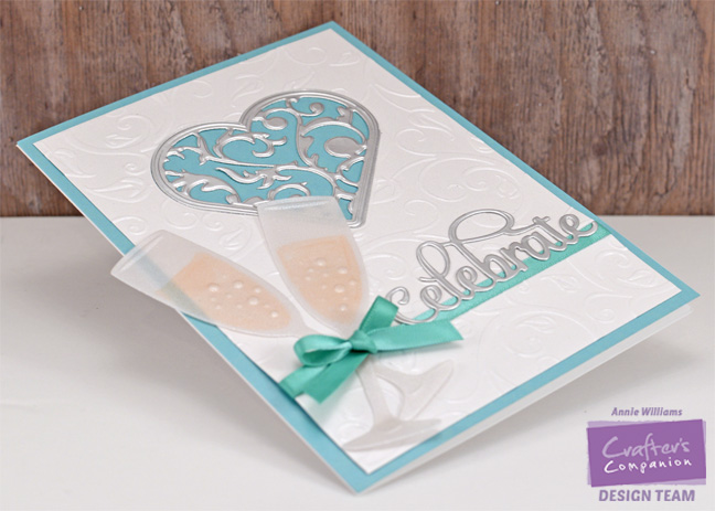 Celebrate with Champagne Card by Annie Williams - Side