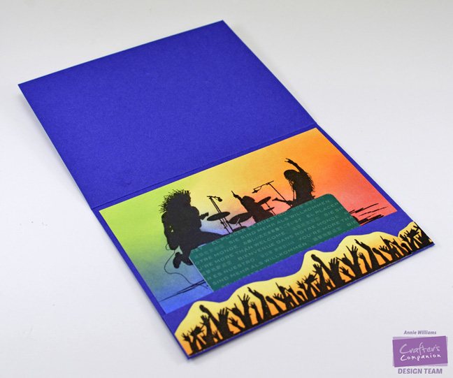 Rock Style Gift Card Holder by Annie Williams - Interior