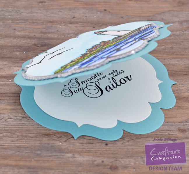 Seaside Encouragement Card by Annie Williams - Interior