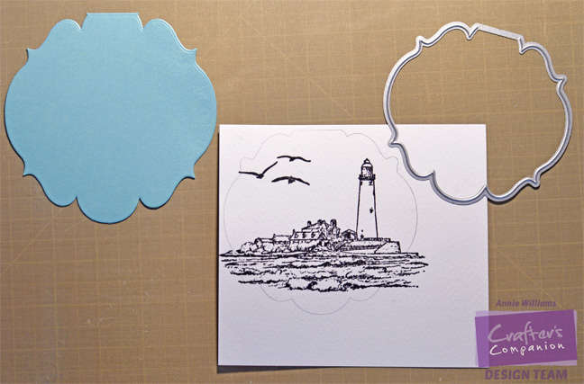 Seaside Encouragement Card by Annie Williams - Stamping