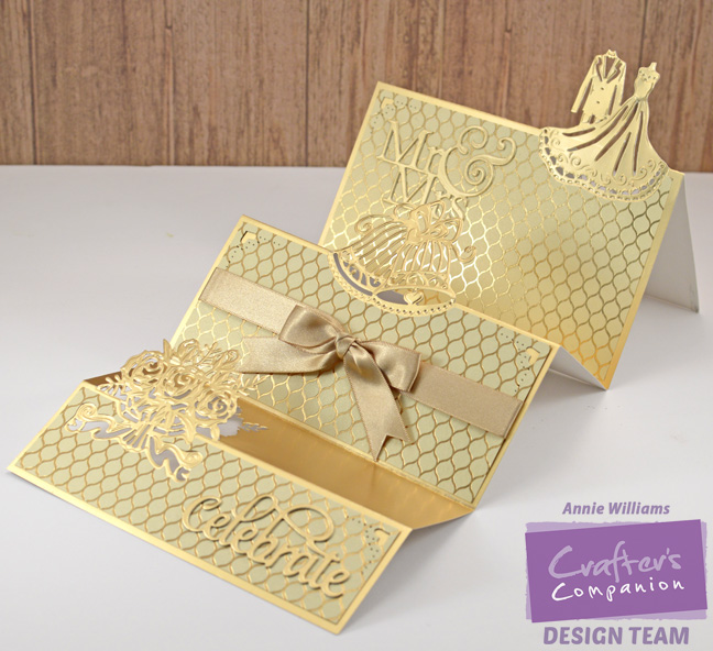 Triple Step Wedding Card by Annie Williams - Extended