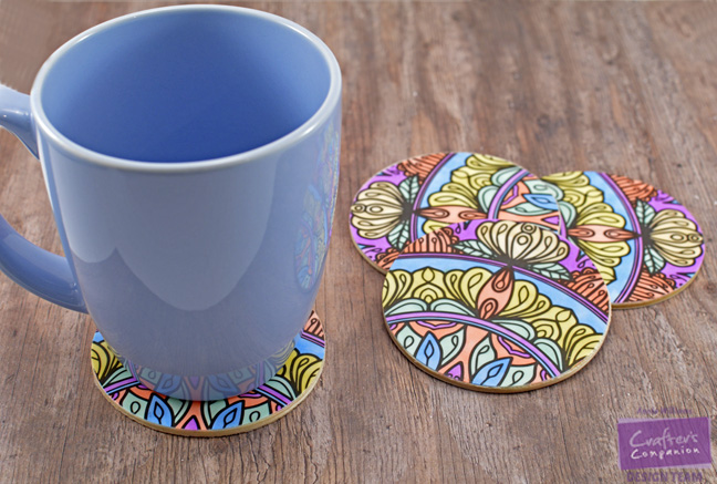 Colorista Drink Coasters by Annie Williams - Coasters with Cup