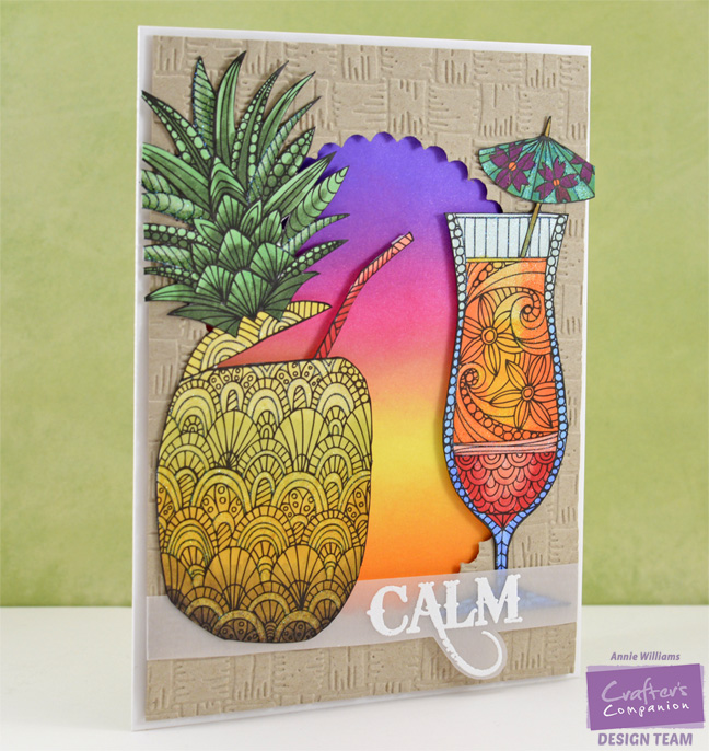 Colorista Pineapple Card by Annie Williams - Main